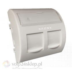 Adapter kątowy KRONX 45x45mm do modułów 2xRJ45 keystone